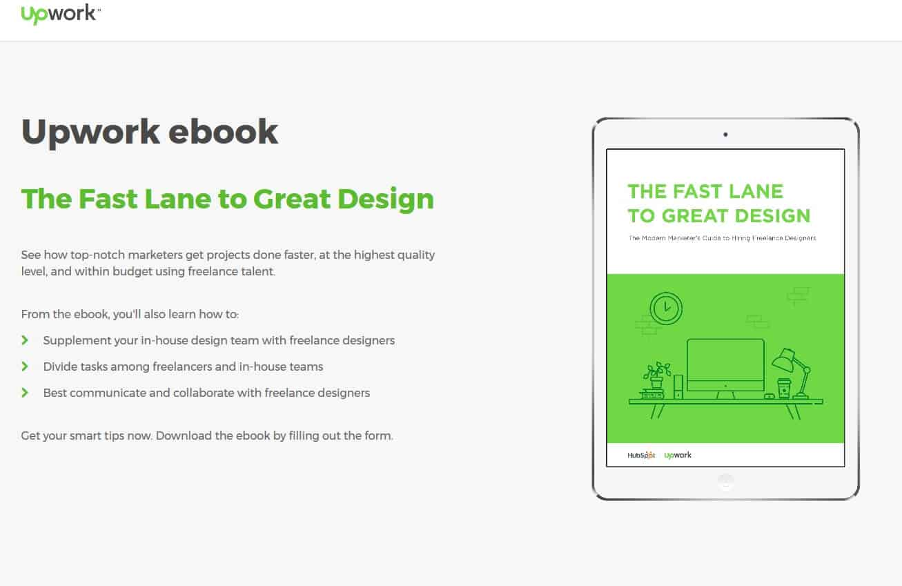 Upwork ebook The Fast Lane to Great Design