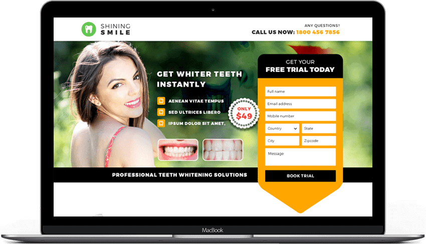 Dentist Lead Generation Landing Page Theme