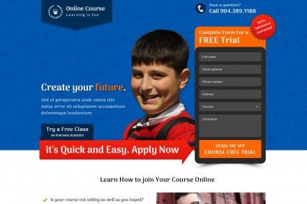 Best Online Course Landing Page Designs