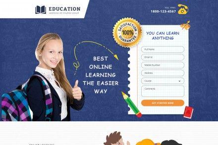 Online Kids Educational Website Landing Page