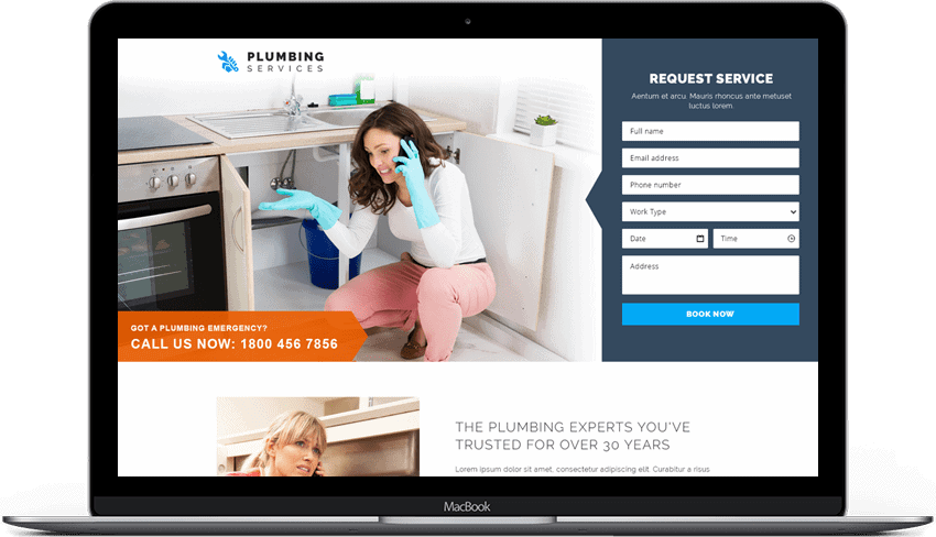 Emergency Plumbing Services Responsive Landing Page