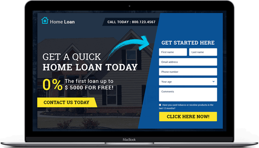 Home Loan Company Responsive Landing Page