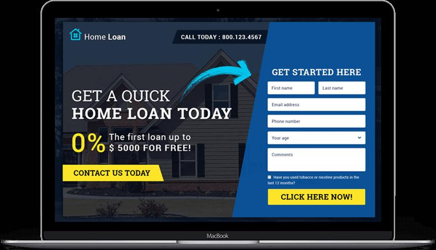 Home Loan Company Responsive Landing Page