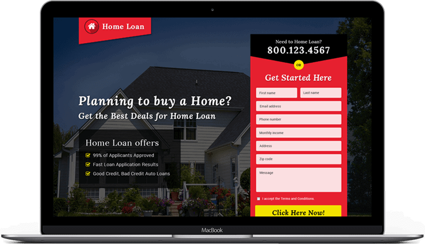 Home Loan Landing Page Design