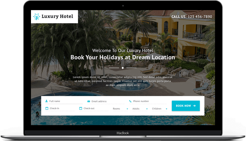 Luxury Hotel Landing Page Theme