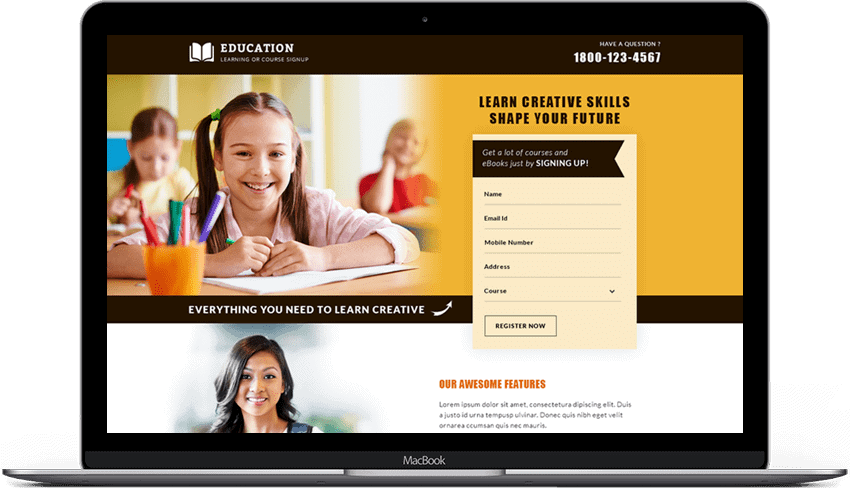 Online Career And Education Landing Page Designs