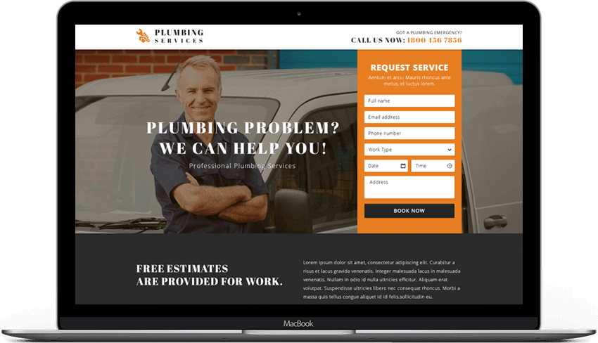 Professional Plumbing Services Landing Page
