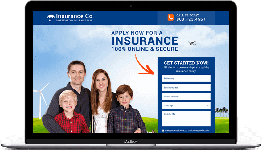 Responsive Life Insurance Landing Page Designs