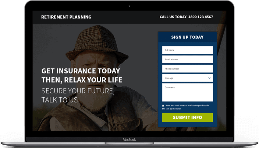 Retirement Pension Plan Landing Page Template