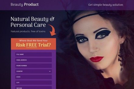 Responsive Beauty Personal Care Landing Page