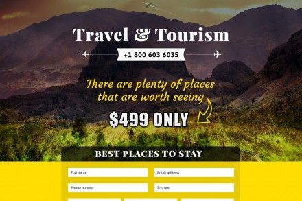 Explore Travel Tourism Landing Page Design