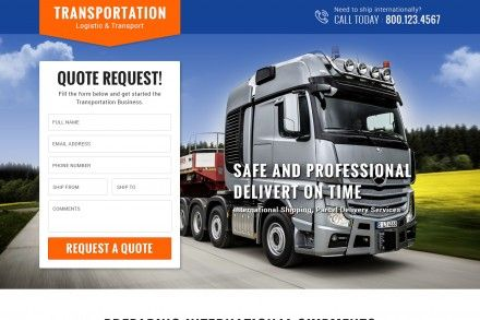 Logistic Transport Lead Generation Landing Page