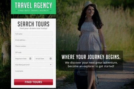 Responsive Travel Agency Landing Page Theme
