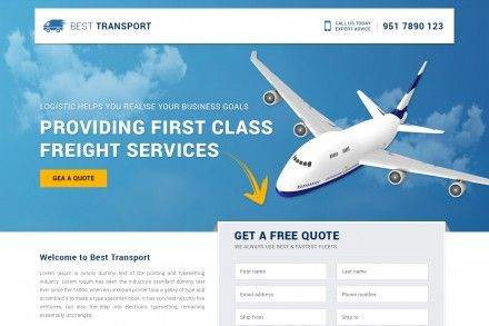 Responsive Freight Services Landing Page