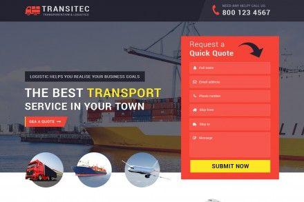 Logistic Services Landing Page Theme