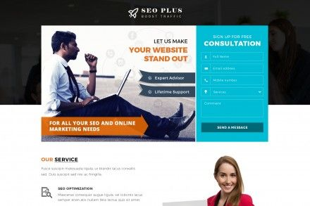 Seo Agency Contact Form Landing Page