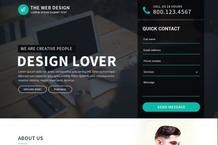 Responsive Landing Page For Web Design