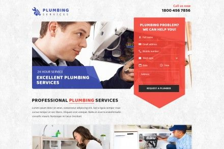 Plumbing Services Contact Form Landing Page