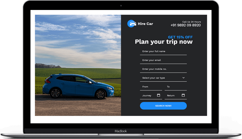 Car Rental Landing Page Theme