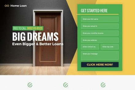 Best Responsive Home Loan Landing Page