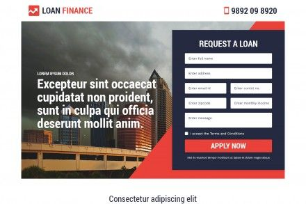 Responsive Finance Loan Landing Page Design