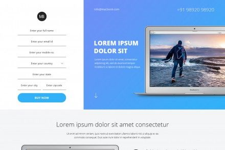 Best Landing Page Design For Macbook