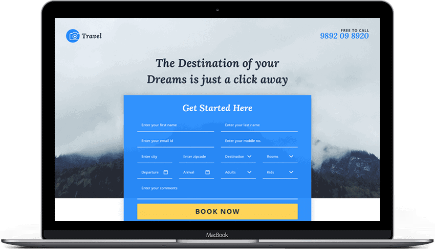 Tours Travel Booking Landing Page