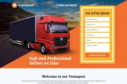 Best Transport Logistic Services Landing Page Design