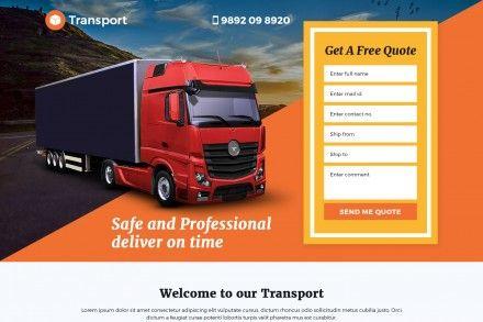 Best Transport Logistic Services Landing Page Design