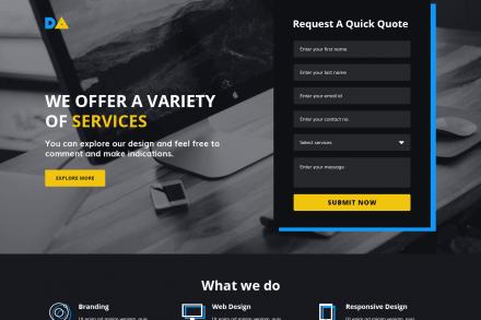 Premium Web Agency Landing Page Design