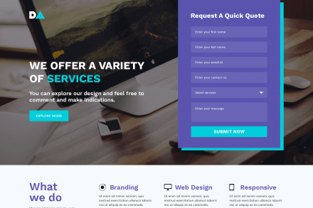 Best HTML Web Design Landing Page Template