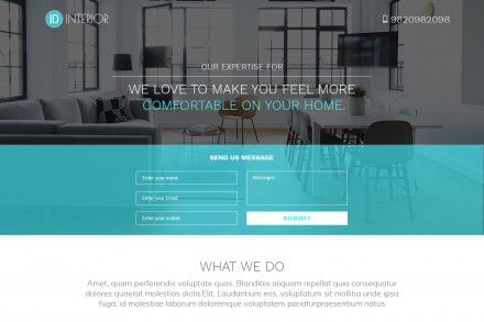 Best Interior Design Landing Page Template