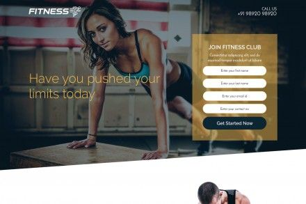 Responsive Fitness Landing Page Template