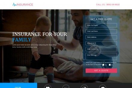 Insurance Agency Responsive Landing Page Theme