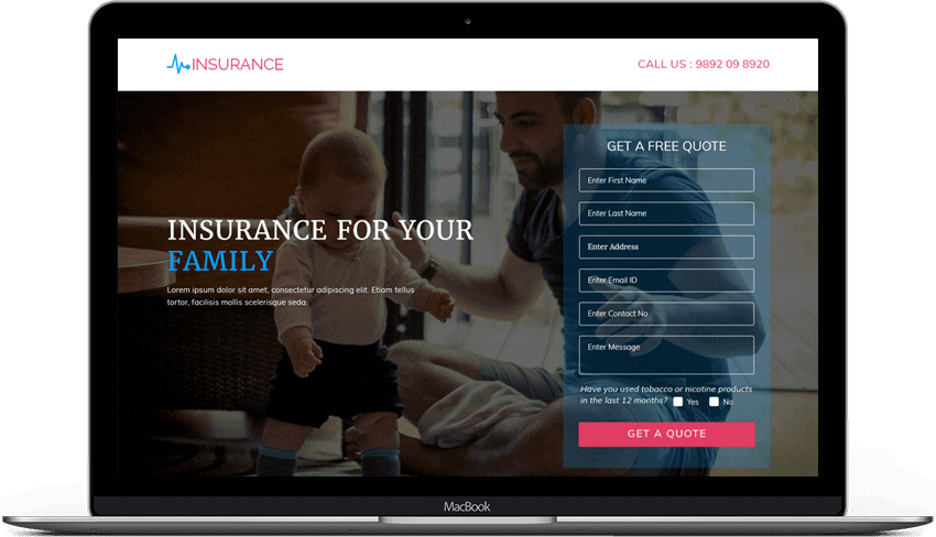 Best High Converting Life Insurance Landing Page Design