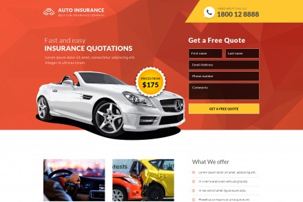 Best Car Insurance Company Landing Page Design
