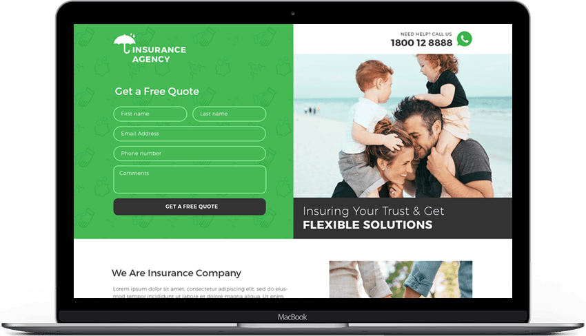 Exclusive Insurance Agency Landing Page Template
