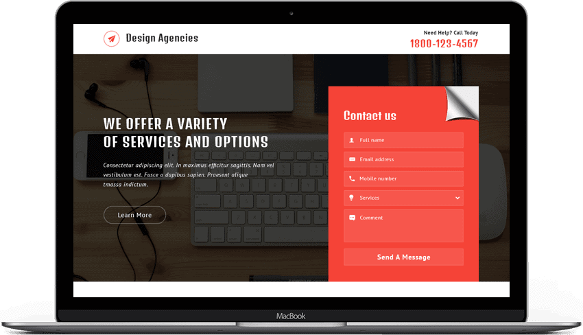 Web Design Agencies Landing Page Template