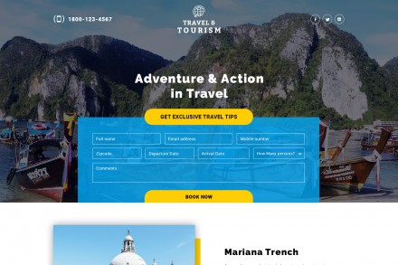 Adventure Tours Travel Landing Page Design