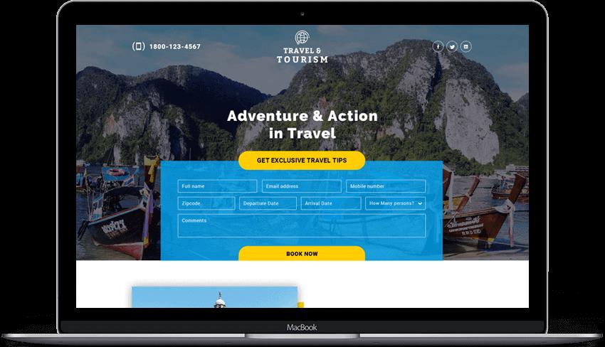 Adventure Tours Travel Landing Page Design